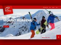 Mount Ruapehu Landing Page Remake