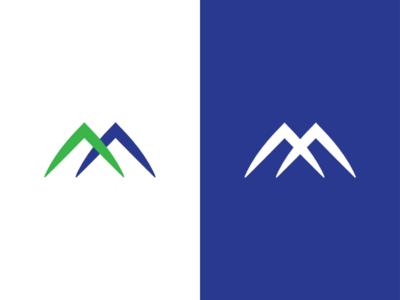 M logo mark