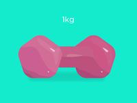 1kg dumbbell