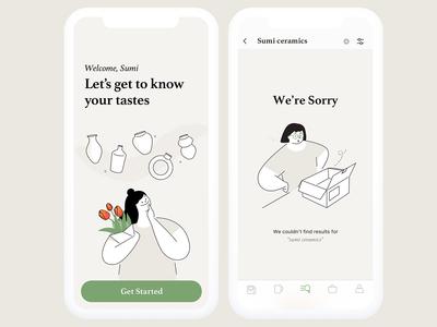 Illustrations for Ceramic App
