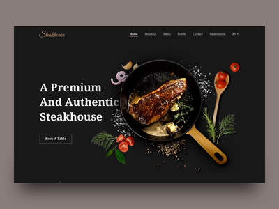 Steakhouse Homepage parallax scrolling parallax animation interaction web homepage steakhouse restaurant food