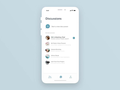 Discussion App app concept chat app app animation mobile app dog discussion