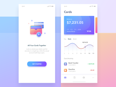 Wallet App illustration onboarding wallet fin tech app