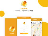 swarm carpooling app