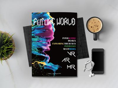 Future World Magazine illustration futureworld future mr ar vr website branding magazine typography ux ui web logo design idea farfalla hu farfalla creative art