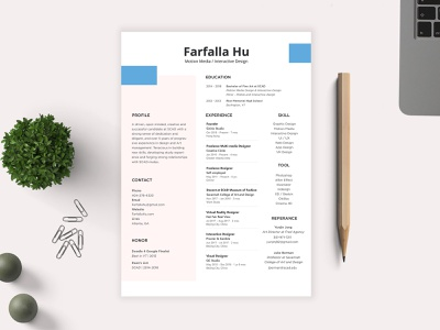 Resume - Farfalla Hu multi-media interactive motion clean logo art website ux ui tools illustration web design idea creative resume vector branding farfalla hu farfalla