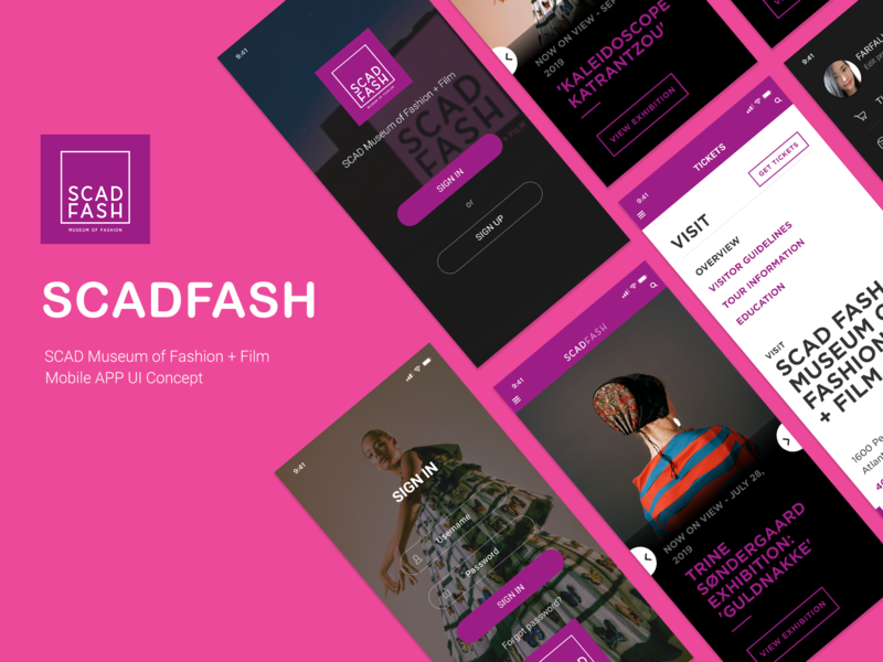 SCAD FASH APP typography clean minimal website ux icon ios app scadfash scad web ui logo branding art design idea farfalla hu farfalla creative