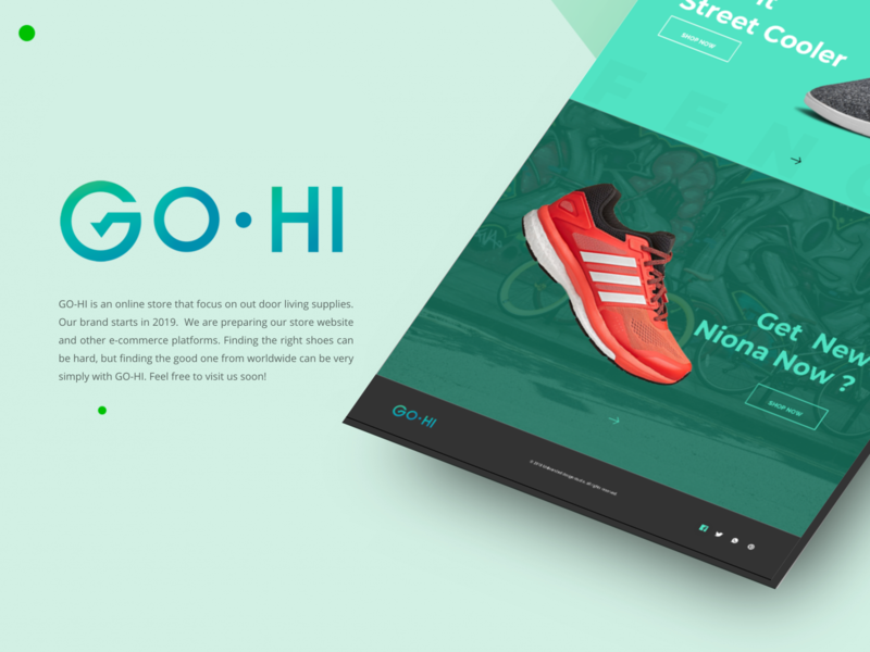 GO HI Online Store Branding icon ui web logo branding design creative idea farfalla hu farfalla
