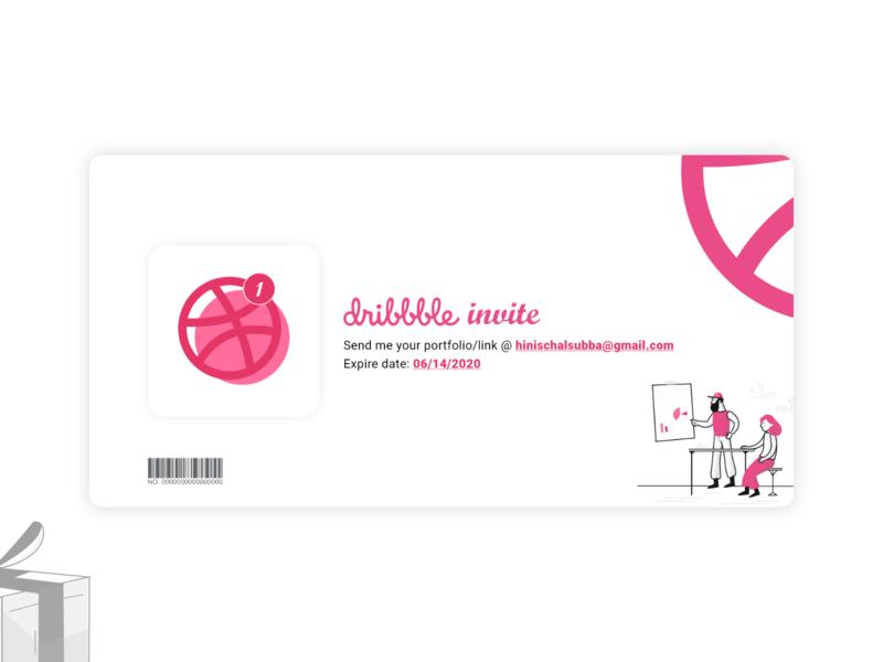 Dribbble Invitation design dribble invitation dribble invite