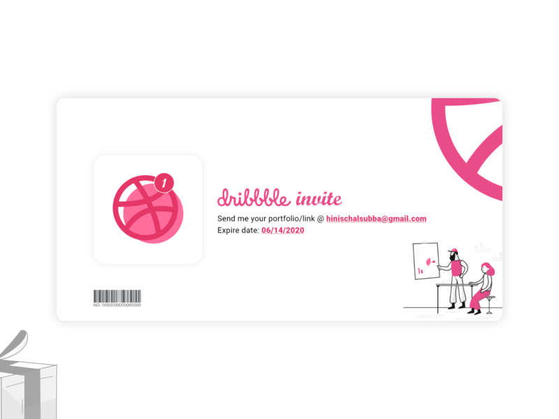 Dribbble Invitation illustration designs design dribble invitation dribble invite