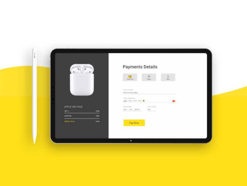 Credit Card Checkout - Daily UI #002 payment dailyui checkoutpage checkout dailyui 002