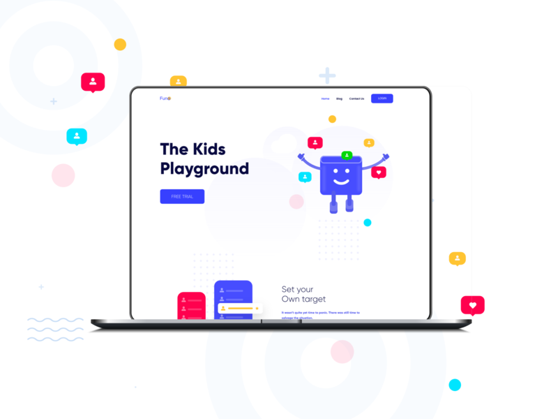 Landing page Design | E-Learning kids app e-learning app uidesign ui ux landing page design illustration landing page landingpage design