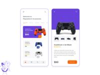 PlayStation Controller Buyout | Mobile App Concept app adobe xd illustration branding dualshock concept mobile app design playstation 4 console playstation