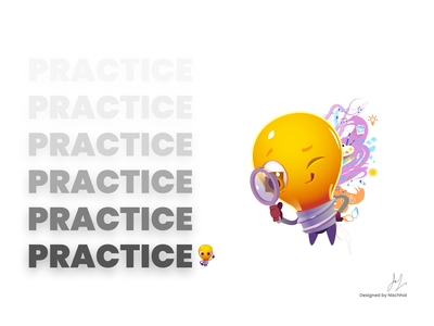 Practice Practice Practice | Design Advice typography practice designadvice design weekly challenge weekly warm-up weeklywarmup