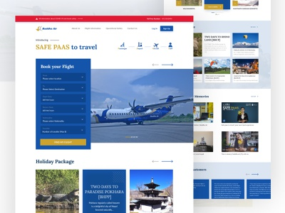 Buddha Air | Unofficial Rebranding aviation nepal nepal airlines nepal airlines buddha air buddha air airlines weekly challenge ui landing page design landing page landingpage uidesign design