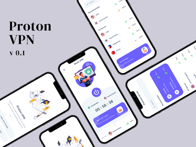 Proton VPN | App Concept illustration uidesign design mobile app branding animation