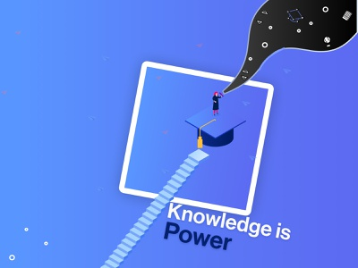 Knowledge is power. | Design 2021 student vector official playoff playoff graduate power learning illustration design