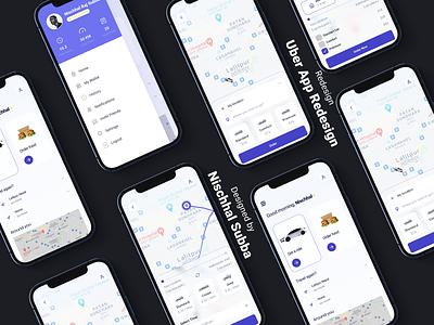 Uber App Redesign | Concept 2021 uxuidesign daily feed app design figma design mobile ui user interface design figmadesign uxui figma ui uidesign design design blog uber redesign redesign mobile ui uber app app concept app