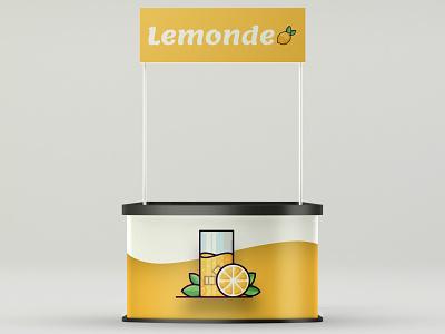 Lemonde | Brand identity for a lemonade stand lemon lemon stand lemonde vector landing page design illustration graphic design weekly design weekly warm up logo logo design branding lemonade stand