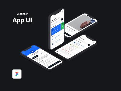 Job Search App UI Concept | Design 2021 job finder figma design figma ui uidesign design job finder app app concept app