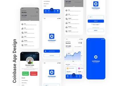 Coinbase Mobile App | Concept 2021 figma design figma ui uidesign design mobile ui coinbase app app concept app