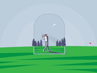 Golf Individual | Summer Olympic sport golf ball golf club golfer summer olympic sport golf individual fairway golf graphic design weekly warm up illustration