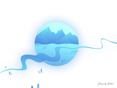 Winter badge | Badge design 2021 mountain winter dribbble art seasonal badge winter badge badge illustration design