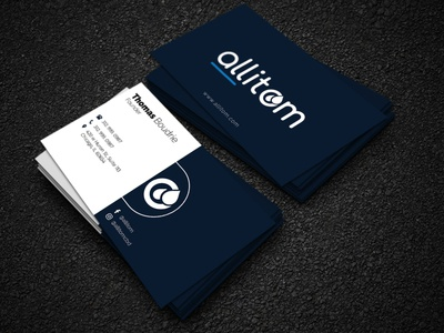 Minimalist and simple business card design