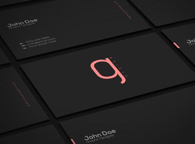 Black flat business card