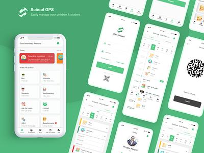 School GPS App school ui ux school design school gps app teacher student children nguyentrongkhoi gps tracker school ui schedule gps school app