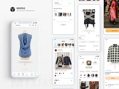 M I X F A S ui ux 3d clothing 3d clothing ui ux clothing business clothing social media design social network social
