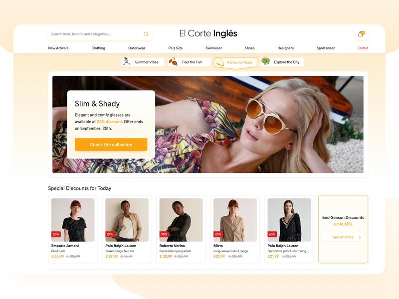 Fashion E-Commerce - Homepage clothing homepage e-commerce ecommerce fashion