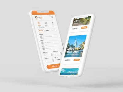 Responsive Mobile Web Design (UI/UX) travel mobile design product design ux ui web design