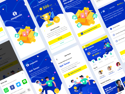 Reward Mobile App mobile app design illustration gamification reward app design mobile app ui design ux design ui design