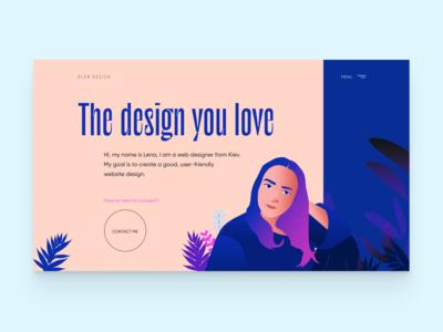 Elen design - personal website
