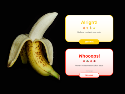 Flash Message (an error and success (DailyUI))