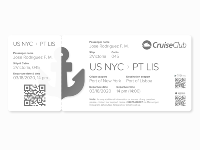 Cruise Boarding Pass