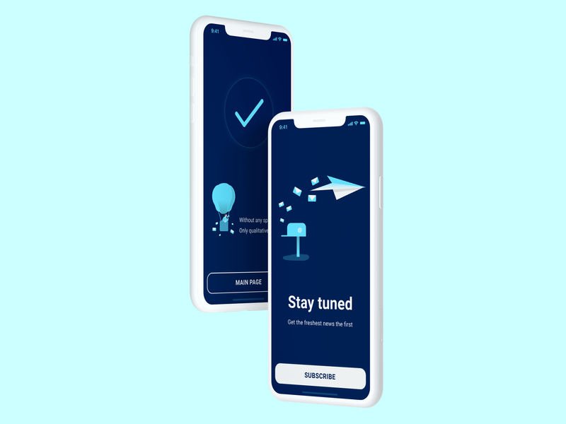 Subscribe Screens illustrations iphone x email marketing email paper planes violet subscription subscribe mockup 026 dailyui