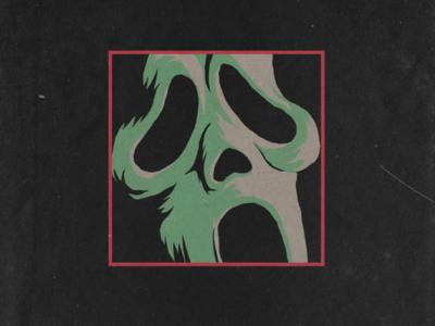 Huelloween: Day 15 - Ghostface retro illustration ghostface vintage horror scream huelloween drawlloween inktober