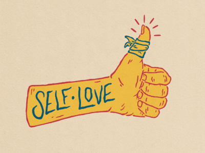 Self Love - Free And Above Collab typography self injury awareness day retro vintage mental illness self love logo hand badge design illustration