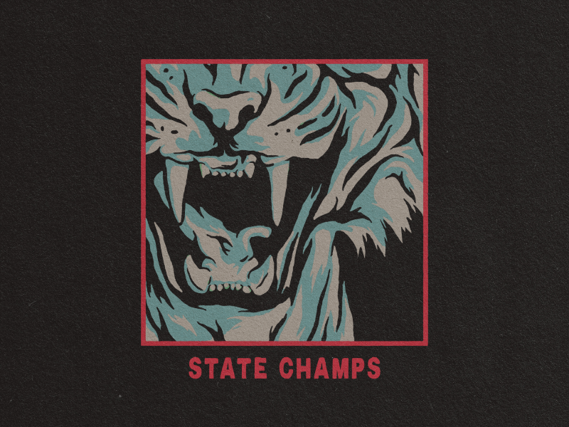 State Champs - Unused Tour Merch Design by Matthew Draeger
