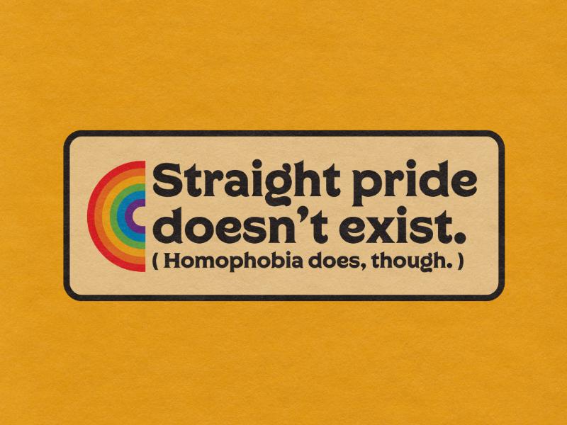 Pride Month Badge graphic design type logo design minimalistic simple retro vintage typography badge design rainbow lgbt lgbtq gay pride month pride