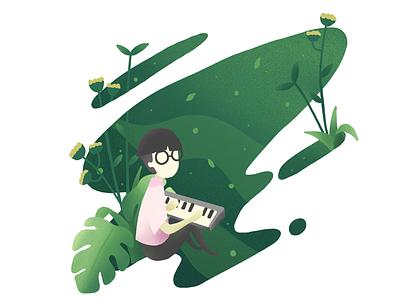 We ever hear dandelion sing vector fllower clean illustration art