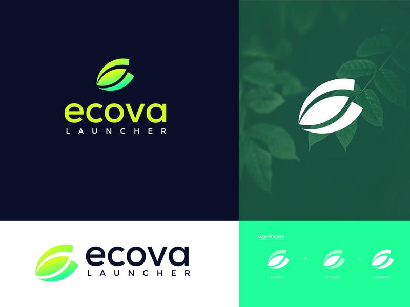 Ecova Mobile App e letter green eco creative uxui uidesign interface install mobile ui mobile design mobile layout mobile theme mobile application launcher icon mobile app design ui logos logo applogo logodesignersclub