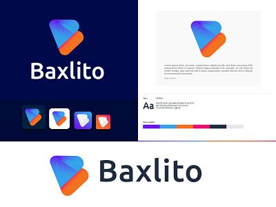 Baxlito Logo Design    B letter Logo Design b letter logo lettermark logomark logotype creative logos logodesignersclub logodesign icon mordern design vector app branding applogo