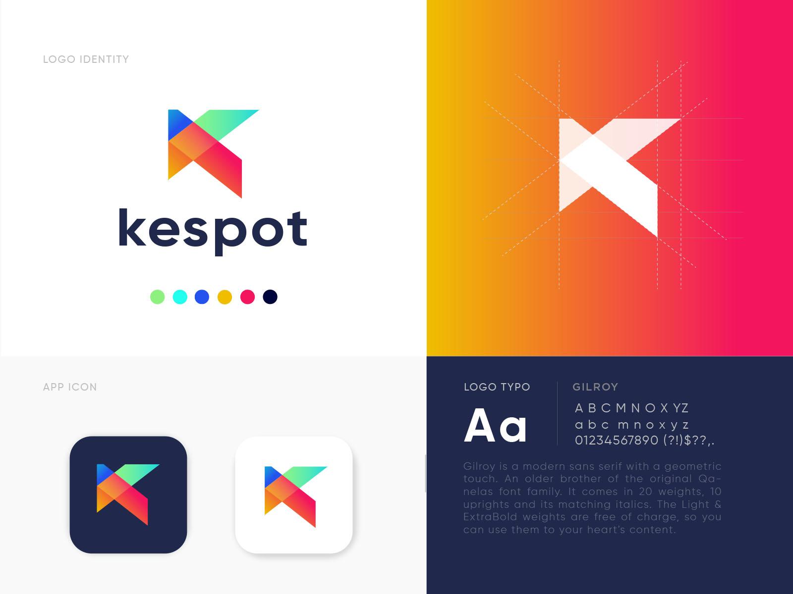 Kespot Logo Design By Ahmed Rumon On Dribbble