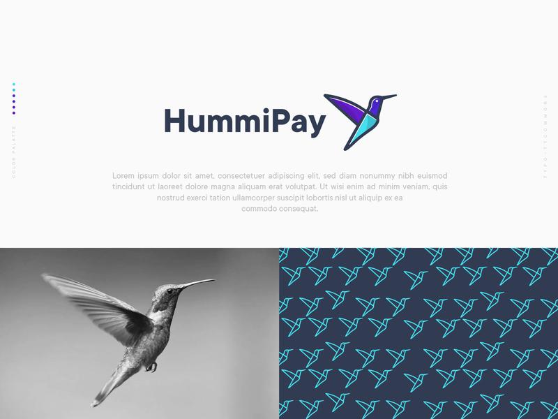 Hummipay  Logo Design ahmed rumon rumzzline online payment online shop money transfer money app branding corporate fly hummingbird payment app bussiness applogo creative logodesignersclub
