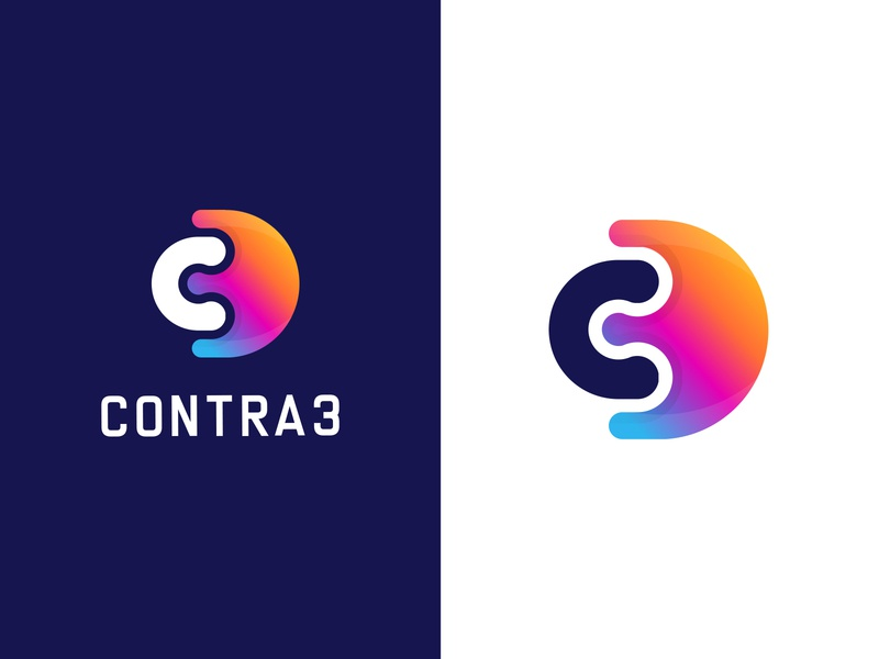 Contra 3 Logo Design apps games logo logos rumzzline logotype gaming app number 3 c letter logo c3 combination mark vector gradient applogo creative logodesign logodesignersclub