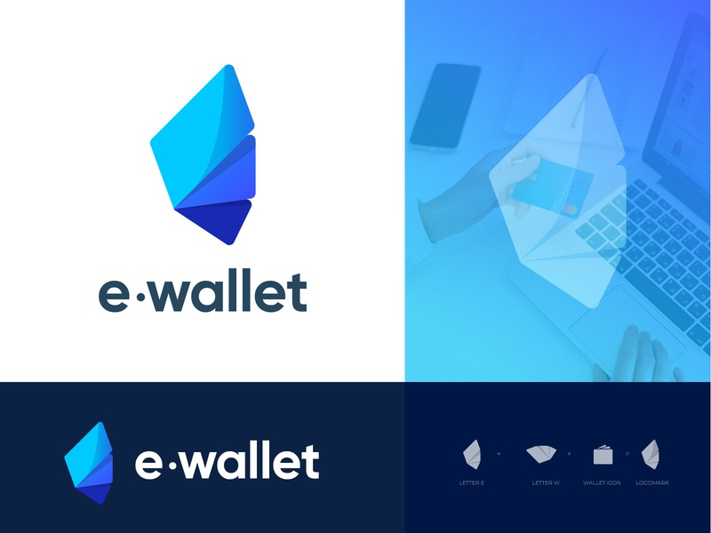 E-wallet logo design typography wallet money app logotype modern logo logo trends 2020 logo design icon logo e modern logo e abstract logo digital wallet logo digital payment brand identity abstract