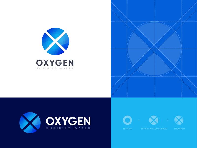 Oxygen Logo Design logotype typhography monogram letter logo logo trends 2020 logo rumzzline ahmed rumon mineral water drinking water logo water logo purify logodesign branding logos